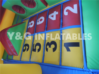 Inflatable Crayon Number Game Bouncer   YGS-12