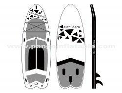 Black Graphics Inflatable Paddle Board YNN93